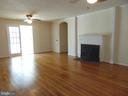 Living Room leads to Sunroom and Master Bedroom - 701 SPRING VALLEY DR, FREDERICKSBURG