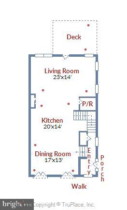 Main Level Floor Plan - 42648 LANCASTER RIDGE TER, CHANTILLY