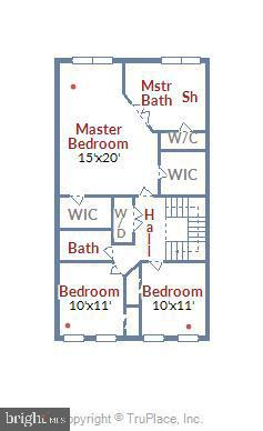 Upper Level Floor Plan - 42648 LANCASTER RIDGE TER, CHANTILLY