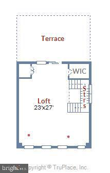 Upper Level Loft Floor Plan - 42648 LANCASTER RIDGE TER, CHANTILLY