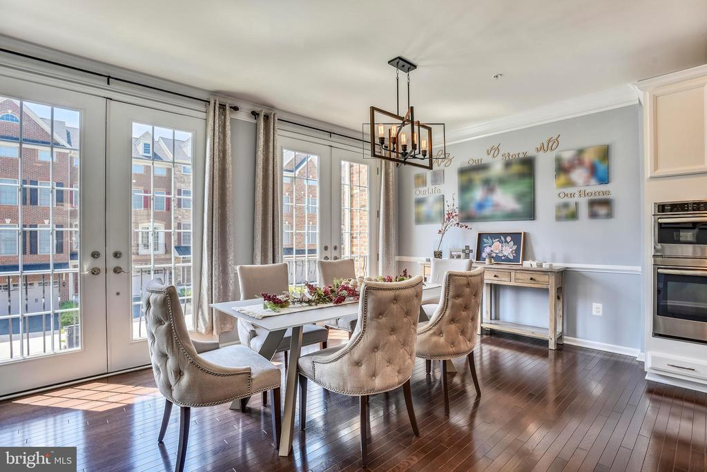 Dining Area with an Abundance of Natural Lightt - 42648 LANCASTER RIDGE TER, CHANTILLY