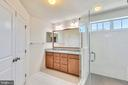 Master Bathroom with Seamless Shower - 42648 LANCASTER RIDGE TER, CHANTILLY