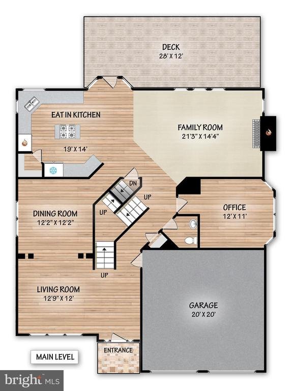 Floor Plan to Upper Level - 21332 MARSH CREEK DR, BROADLANDS