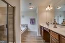 Master Bathroom with separate shower - 705 KESWICK DR, CULPEPER
