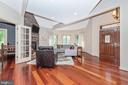Brazilian cherry hardwood throughout - 9708 WOODLAKE PL, NEW MARKET