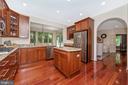 Custom kitchen and morning room - 9708 WOODLAKE PL, NEW MARKET