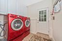 Laundry room and entry to back yard - 9708 WOODLAKE PL, NEW MARKET