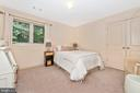 Bedroom off loft nestled in the woods - 9708 WOODLAKE PL, NEW MARKET