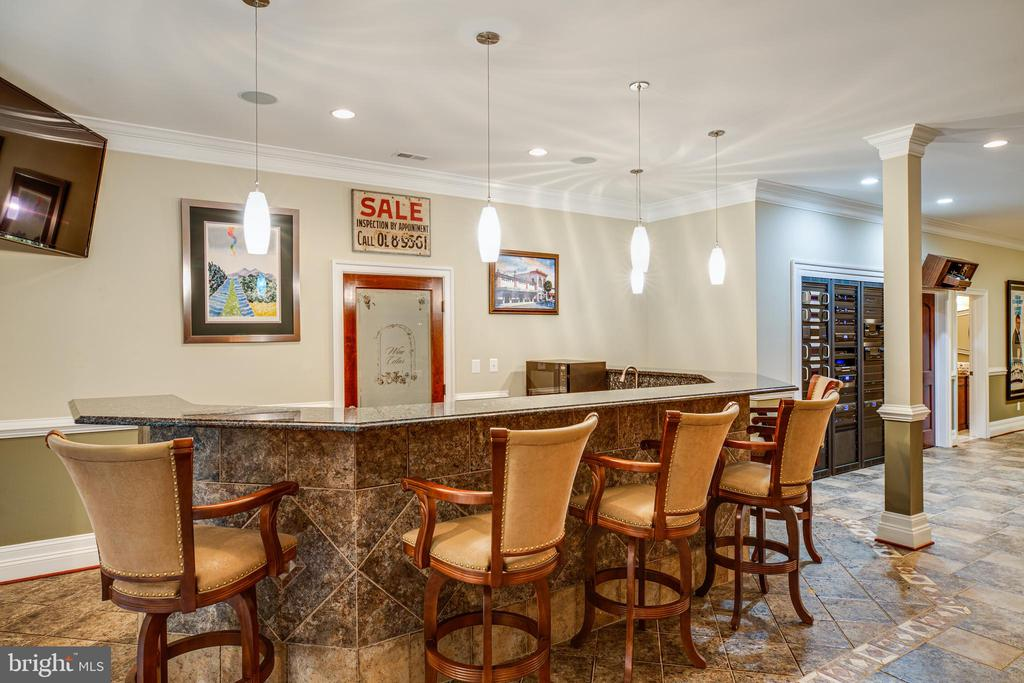 Bar Area  with Door to Private Wine Cellar - 9 WINNING COLORS RD, STAFFORD