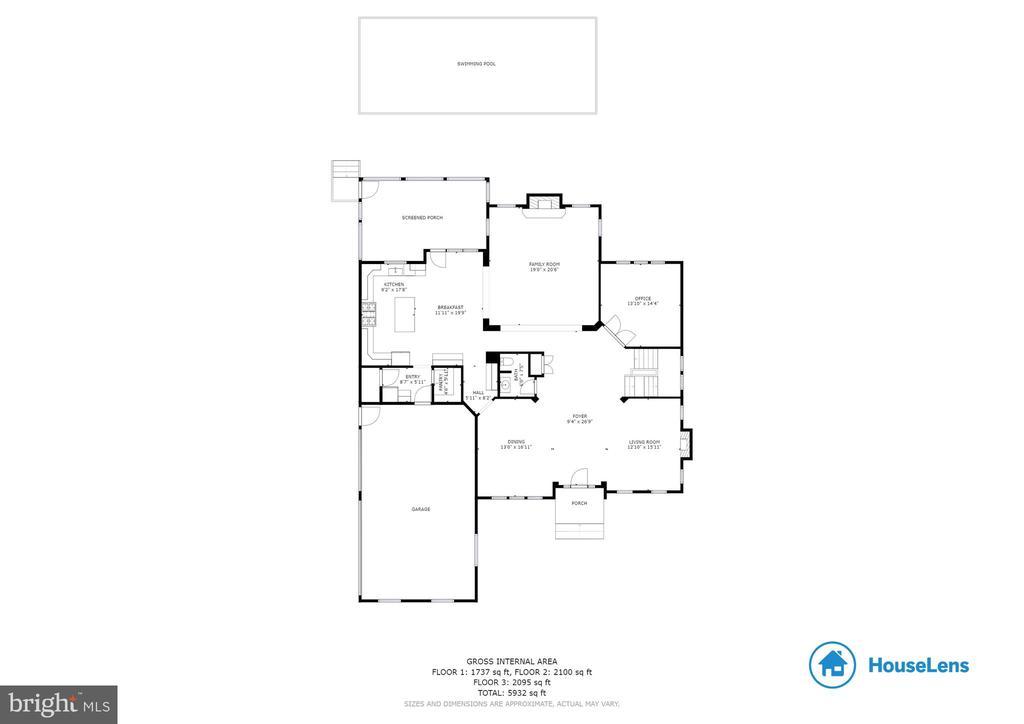 Main Floor Plan - 3003 WEBER PL, OAKTON