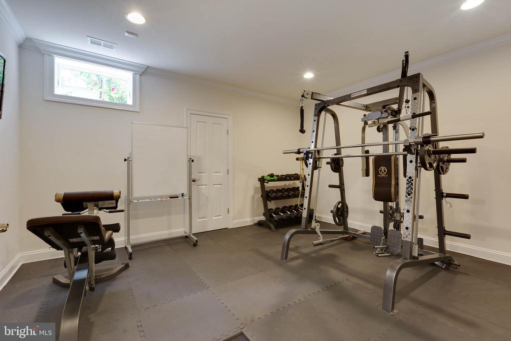 Basement Exercise Room - 3003 WEBER PL, OAKTON