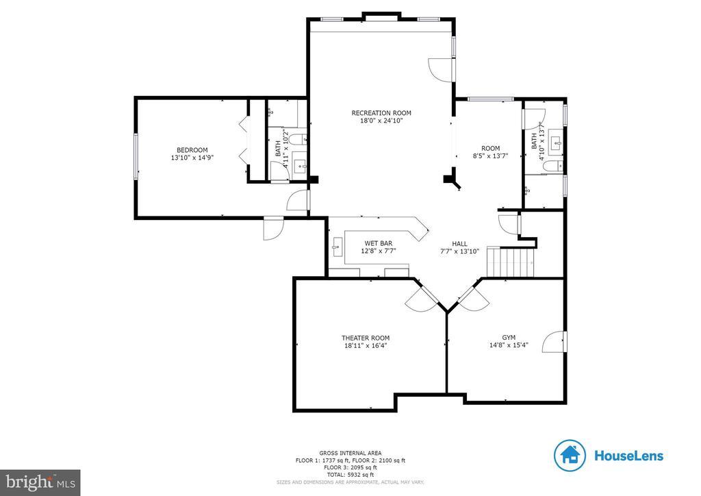 Basement Floor Plan - 3003 WEBER PL, OAKTON