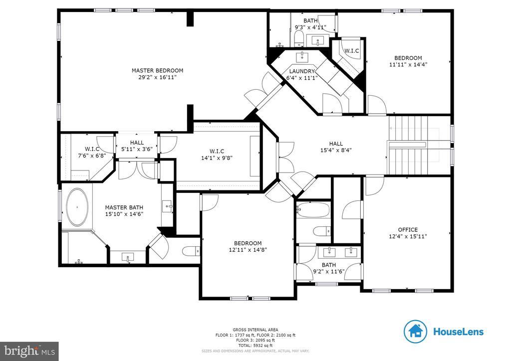 Upstairs Floor Plan - 3003 WEBER PL, OAKTON