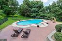 The deck has an awesome view of the pool & yard - 9620 CHATHAMS FORD DR, VIENNA
