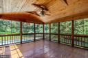 Just off family room is a huge screened porch - 9620 CHATHAMS FORD DR, VIENNA