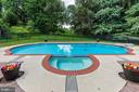 How incredible is this pool? The yard is so big! - 9620 CHATHAMS FORD DR, VIENNA