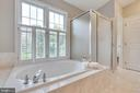 Master bath has soaking tub and separate shower - 9620 CHATHAMS FORD DR, VIENNA