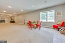 And an area for play and fun. Piped for a wet bar - 9620 CHATHAMS FORD DR, VIENNA