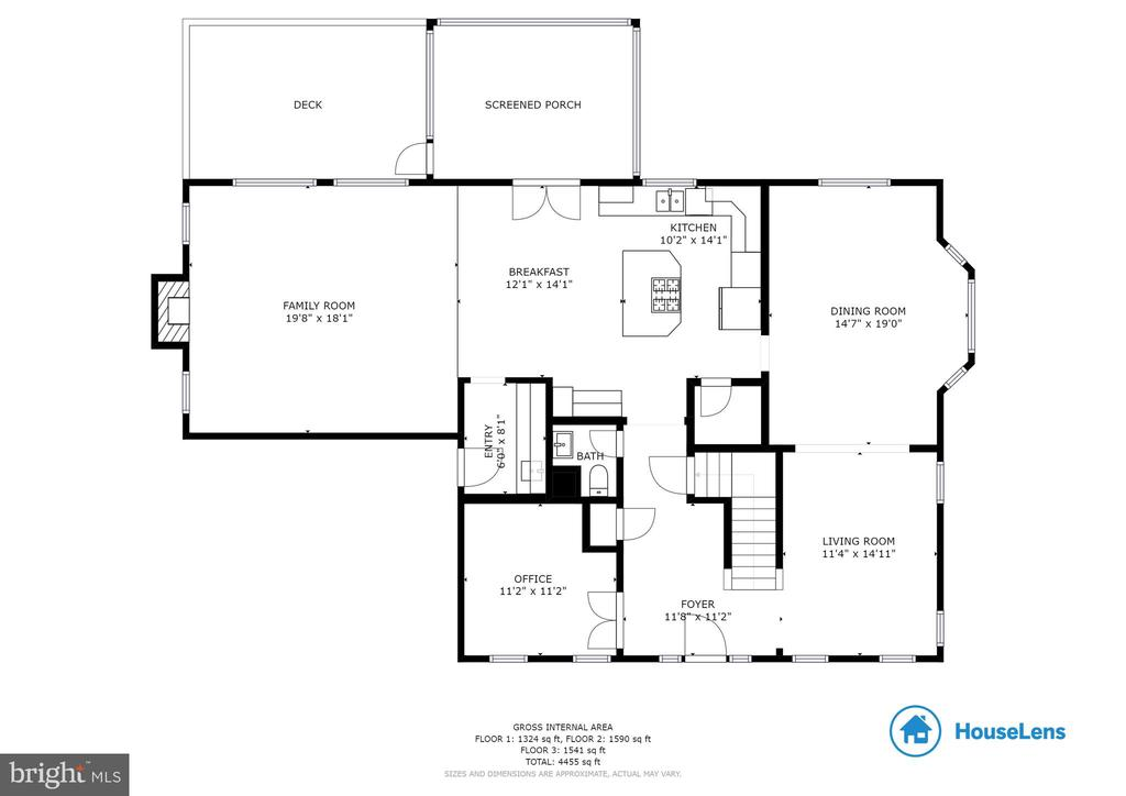Main level floorplan - 9620 CHATHAMS FORD DR, VIENNA