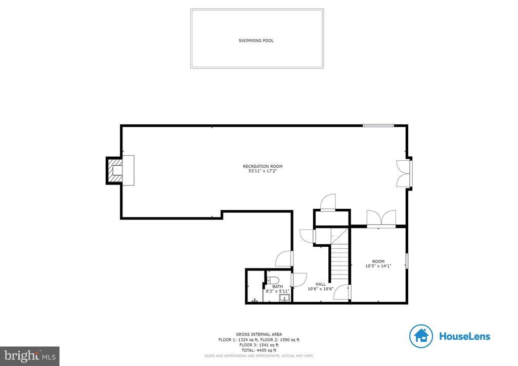 Lower level floorplan - 9620 CHATHAMS FORD DR, VIENNA