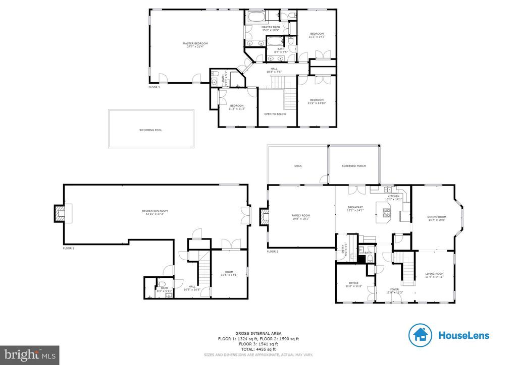 All three floor plans-  Welcome home!! - 9620 CHATHAMS FORD DR, VIENNA