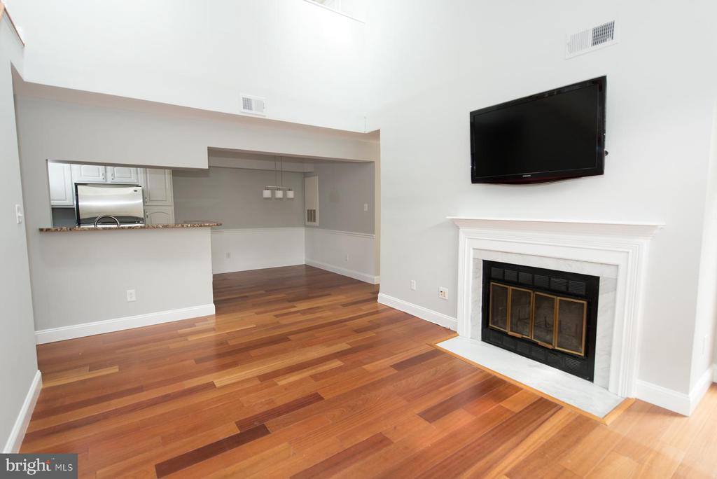 A nicely sized living room with fireplace - 2224 SPRINGWOOD DR #106A, RESTON