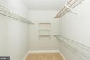 Walk in closet - 2224 SPRINGWOOD DR #106A, RESTON