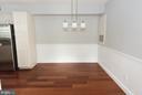 Separate dining room - 2224 SPRINGWOOD DR #106A, RESTON