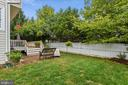 Fenced backyard - 21536 INMAN PARK PL, ASHBURN