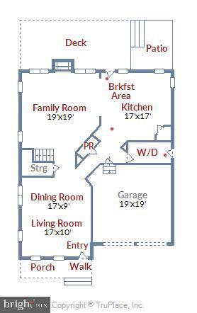 Main Level Floor Plan - 21536 INMAN PARK PL, ASHBURN