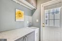 Utility sink and Door that leads to the backyard - 21536 INMAN PARK PL, ASHBURN