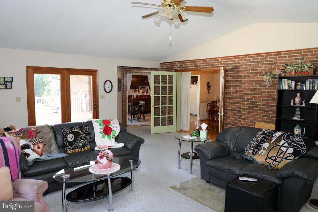 24 x 20 Family room with entrance to patio /pool - 7839 RIDGE RD, FREDERICK