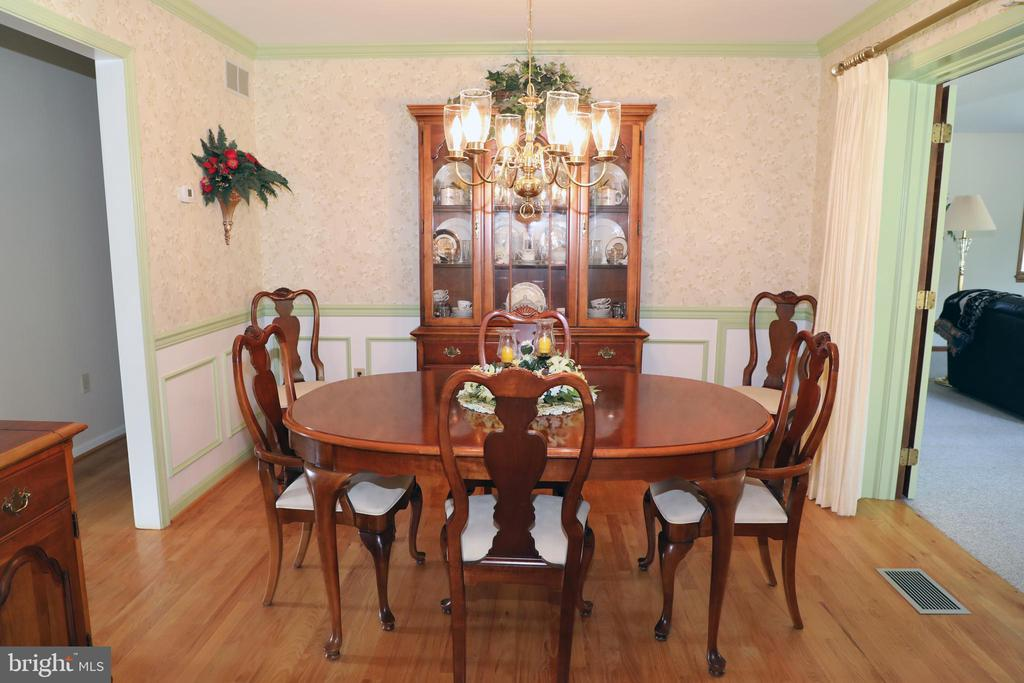 Large separate Dining Room with Hardwood floors - 7839 RIDGE RD, FREDERICK