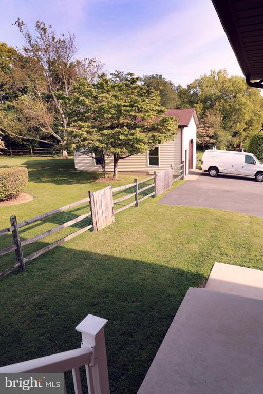 Deck view to Added OverSize Shop/Garage - 7839 RIDGE RD, FREDERICK