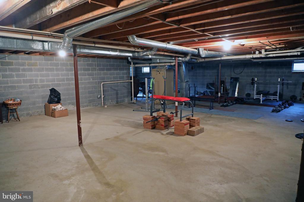 Rough in for bath in basement. Space for Rooms - 7839 RIDGE RD, FREDERICK