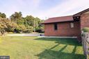 Side view of backyard and pool - 7839 RIDGE RD, FREDERICK