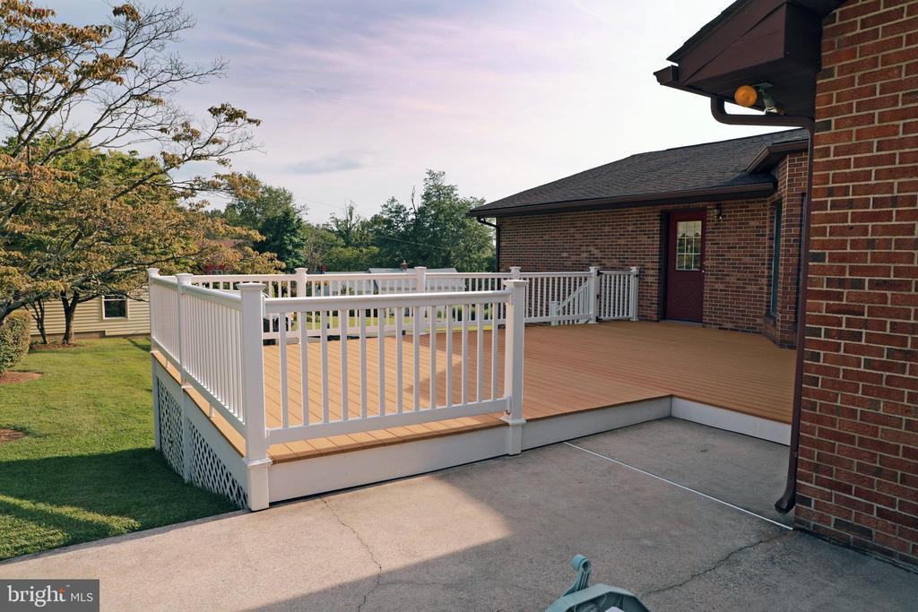 Deck is made of Trex and Vinyl /  Maintenance Free - 7839 RIDGE RD, FREDERICK