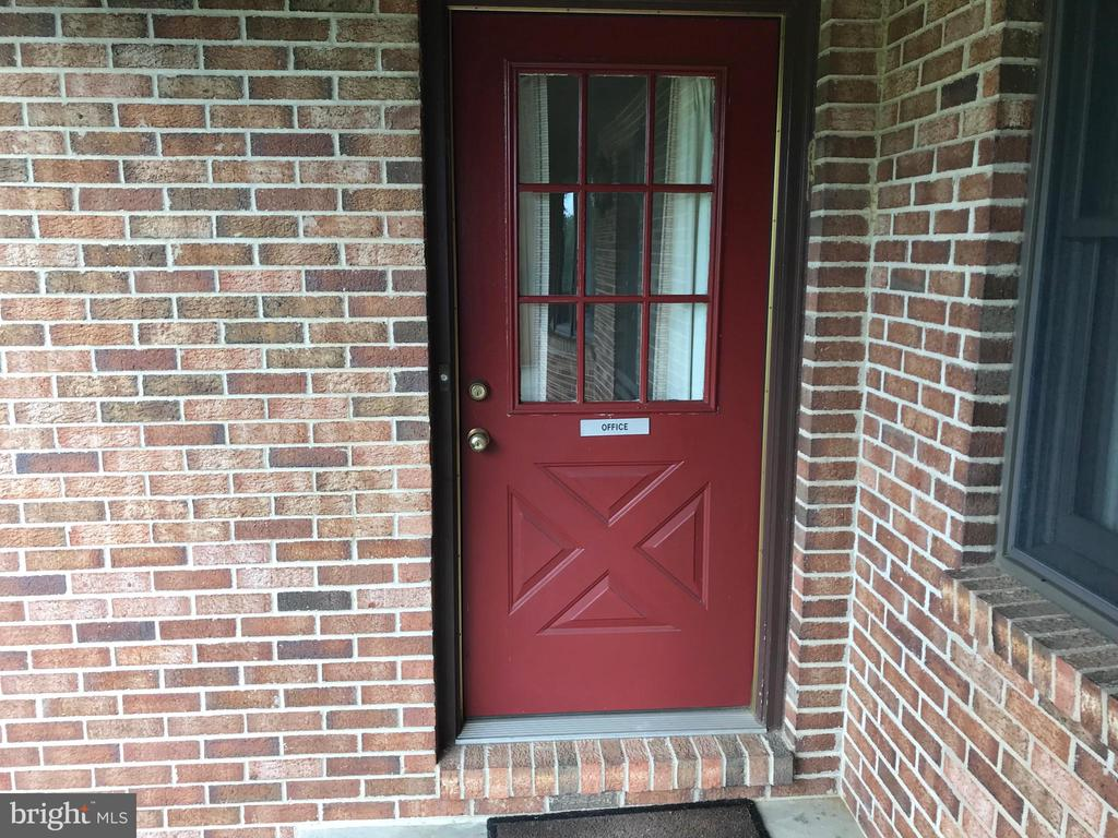 Door from Front porch to office - 7839 RIDGE RD, FREDERICK