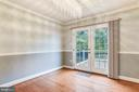 Dining room with views of the private backyard - 2996 SLEAFORD CT, WOODBRIDGE