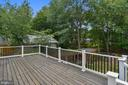 Stained  New deck with Vinyl Railing. - 2996 SLEAFORD CT, WOODBRIDGE