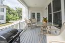 Covered Porch off Family Room and Kitchen - 107 HILLIER ST, FALLS CHURCH