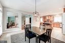 Breakfast Room to Kitchen and Family Room - 107 HILLIER ST, FALLS CHURCH