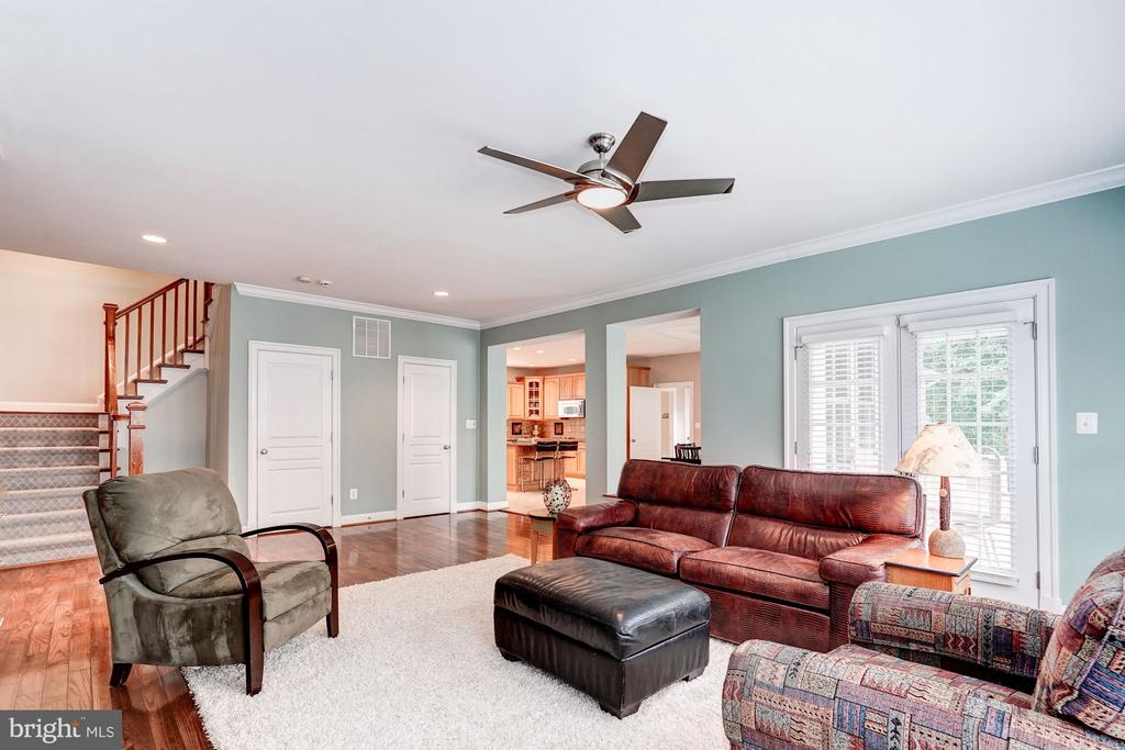 Family Room to Kitchen - 107 HILLIER ST, FALLS CHURCH