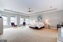 Expansive Master Bedroom w/3 Closets - 107 HILLIER ST, FALLS CHURCH