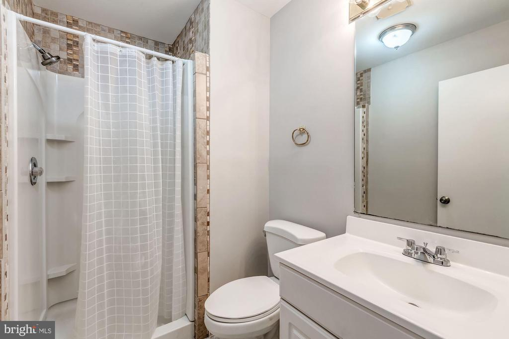 Master bathroom with stand alone shower - 2183 GREENKEEPERS CT, RESTON