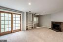 Lower level rec room with sliding door to patio - 2183 GREENKEEPERS CT, RESTON