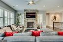 Fireplace with stone surround - 23039 WELBOURNE WALK CT, ASHBURN