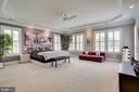 Master suite with tray ceiling - 23039 WELBOURNE WALK CT, ASHBURN