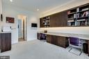 In-home office with cabinets and work space - 23039 WELBOURNE WALK CT, ASHBURN