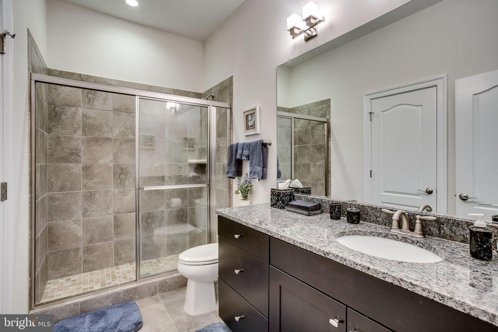 Lower level full bath - 23039 WELBOURNE WALK CT, ASHBURN